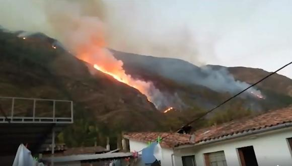 Cusco: incendio forestal en San Salvador dejó más de 60 hectáreas destruidas | Foto: Captura de pantalla / Noticias Cusco news