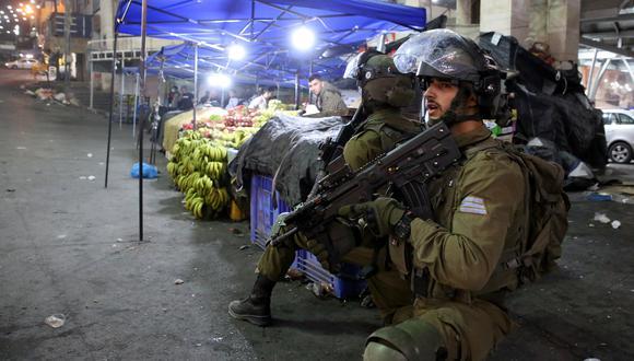 Tropas de Israel en la ciudad de Hebron. (Foto: EFE)