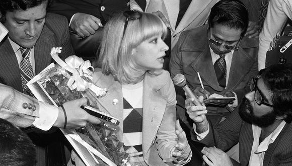 Lima, 6 de noviembre de 1979.  La cantante y actriz italiana llegó al Perú por primera vez en 1979.  (Foto: GEC Archivo Histórico).