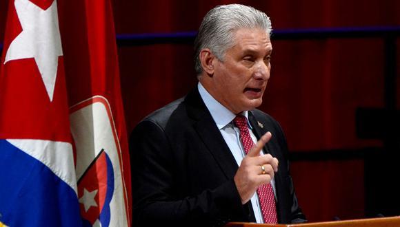 El presidente de Cuba Miguel Díaz-Canel. (AFP).