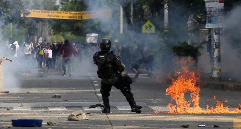 """Paro nacional en Colombia: Decretan toque de queda en Cali por vandalismo durante movilización contra Iván Duque. (Foto: """"El Tiempo"""", Colombia / GDA)"""
