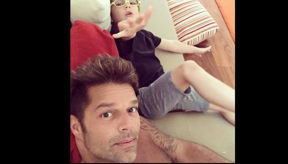 Ricky Martin compartió esta tierna fotografía con su hijo