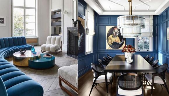 Classic blue, el color del 2020, es muy elegante y transmite tranquilidad.  (Fotos: Instagram)