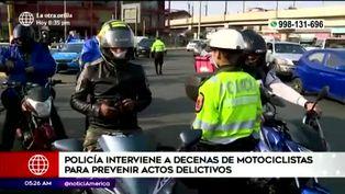 Decenas de motociclistas fueron intervenidos en un operativo conjunto