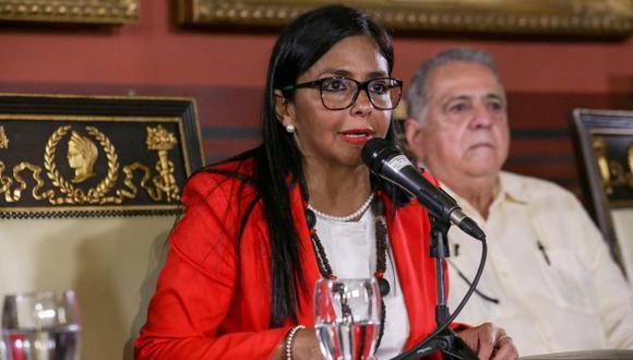 Delcy Rodríguez, presidenta de la Asamblea Nacional Constituyente de Venezuela. (Foto: EFE)