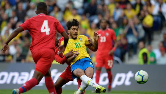 Brasil, sin Neymar, empató con Panamá en Portugal. (Foto: AFP)