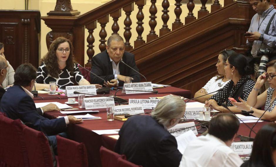 La Comisión de Constitución debatió y emitió una opinión consultiva sobre el caso del sentenciado Edwin Donayre senteciado por peculado. (Foto: Juan Ponce / GEC)