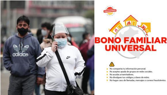 El Segundo Bono Familiar Universal se entregará desde el 10 de octubre y se entenderá hasta diciembre (Foto: Andina/Bono Universal)