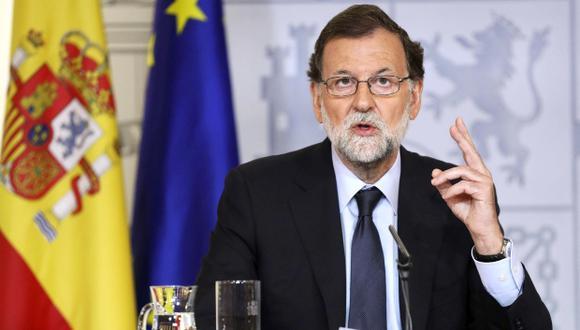 """""""Volveremos a dar un mensaje claro de unidad y de repulsa al terrorismo y de amor a la ciudad de Barcelona"""", dijo Mariano Rajoy. (Foto: EFE)"""