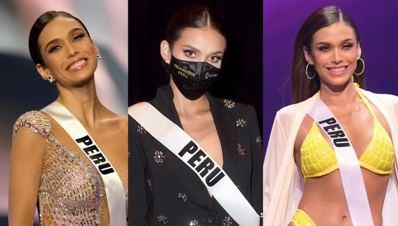 Janick Maceta, en distintos momentos a lo largo de su presentación en el concurso Miss Universo. Fotos: Archivo de El Comercio.