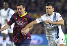 Sergio Agüero es la apuesta de FC Barcelona para retener a Lionel Messi