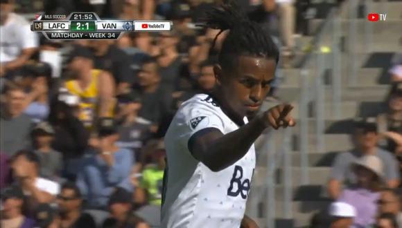 El delantero nacional, Yordy Reyna, se hizo presente en el marcador en el encuentro entre Vancouver Whitecaps vs LAFC. El gol del peruano llegó desde la vía del penal (Foto: captura de pantalla)