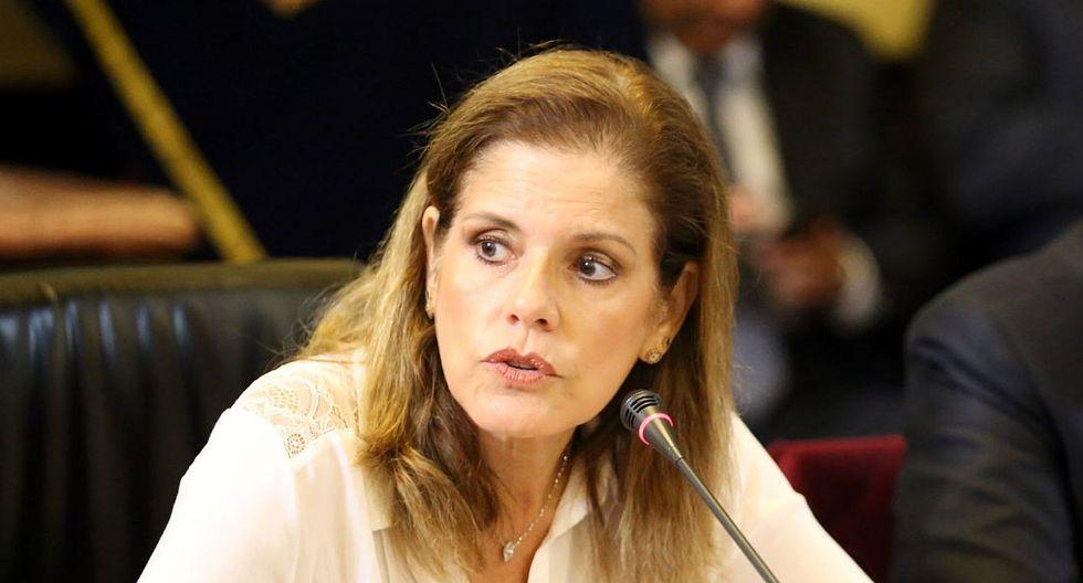"""La congresista Mercedes Araoz respondió a Luis Galarreta y lo acusó de decir """"infamias"""". (Foto: Congreso)"""
