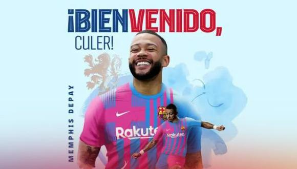 Memphis Depay se unirá a Barcelona tras la Eurocopa 2021. (Foto: FC Barcelona)