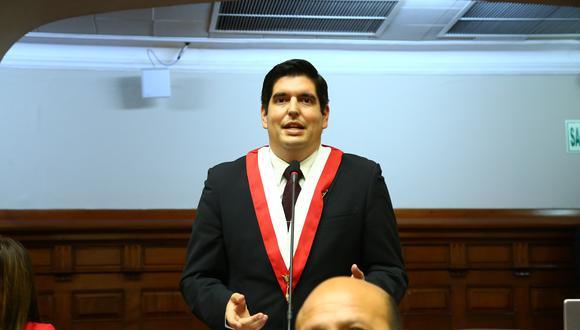 Luis Roel, presidente de la Subcomisión de Acusaciones Constitucionales, niega blindaje a fiscal Pedro Chávarry (Foto: Congreso)