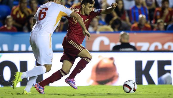 El joven atacante Munir El Haddadi, ex canterano del Barcelona, solo disputó un partido con 'La Roja', pero ese mismo le  impide que represente a Marruecos en Rusia 2018. (Foto: AFP)