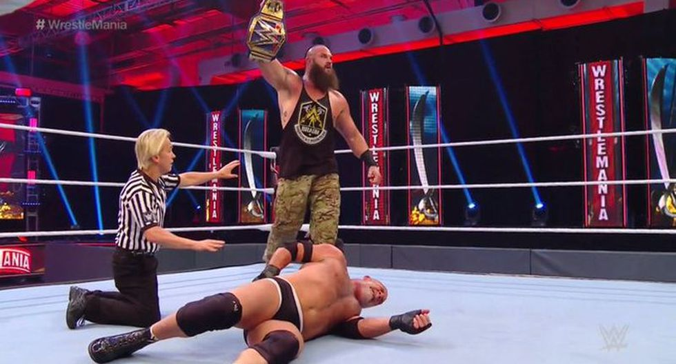 Braun Strowman derrotó a Goldberg y ganó el título de WWE. (WWE)
