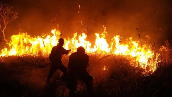 Incendios forestales en Bolivia. Foto: Fundación Noel Kempff Mercado.