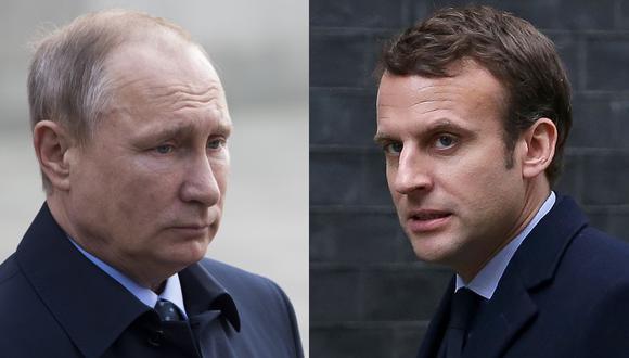 "Putin urge a Macron a ""superar la desconfianza mutua"""