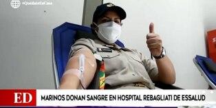 Coronavirus en Perú: Cadetes de la Marina donan sangre en hospital Rebagliati en Jesús María
