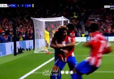 Antoine Griezmann anotó su doblete y le dio el empate a Atlético de Madrid vs. Liverpool |VIDEO