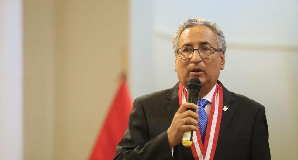El juez supremo José Luis Lecaros se pronunció sobre Richard Concepción Carhuancho vía Twitter. (Foto: Jessica Vicente / GEC)