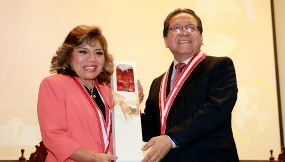 fiscales supremos Zoraida Avalos y Pablo Sánchez, integrantes de la Junta de Fiscales Supremos (Foto: Ministerio Público)