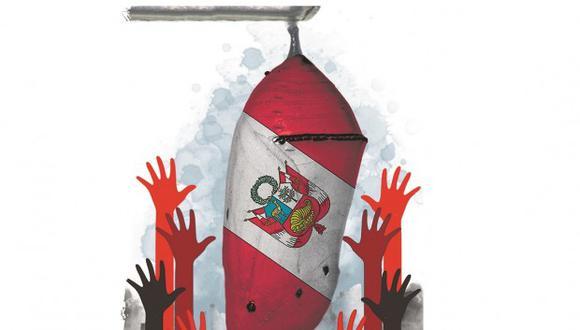 """""""""""Tu problema, Berú [Perú], es que eliges autoridades rápido y sin reflexión, pensando en evitar el error alfa, sin ver que si escoges mal tu mala suerte durará 5 años"""""""". (Ilustración: Rolando Pinillos)"""