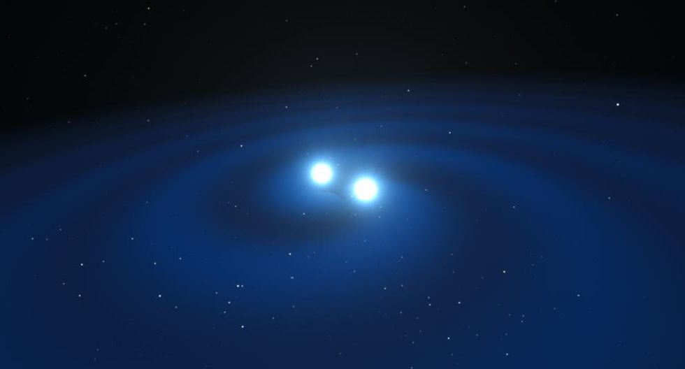 Al fusionarse, las estrellas de neutrones generan ondas gravitacionales. (Foto: NASA)