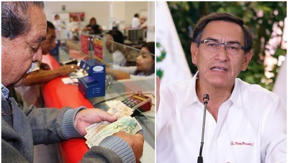 El presidente Martín Vizcarra autorizó el retiro parcial de los fondos de las AFP. (Foto: El Peruano/GEC)