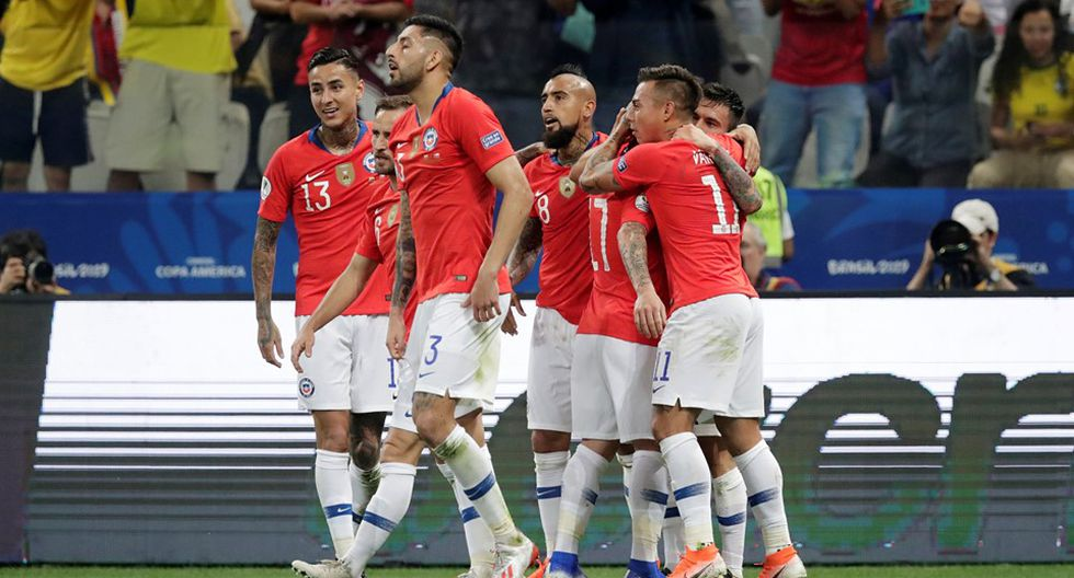 Colombia vs. Chile. (Foto: AFP)