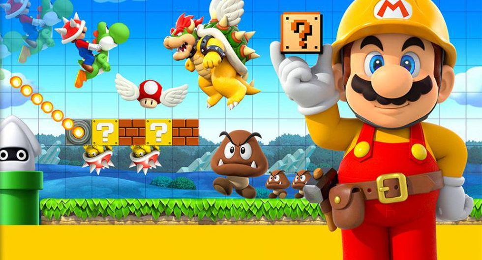 Super Mario Maker (2015). Un juego que se trata básicamente de poner a volar nuestra imaginación y utilizar todos los elementos que hemos conocido en los juegos de Super Mario Bros para crear nuestros propios niveles.