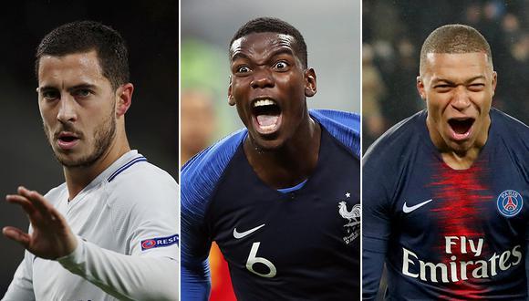 Mbappé, Pogba y Hazard en la mira del Real Madrid, según LEquipe. (Foto: Reuters/EFE/Reuters)