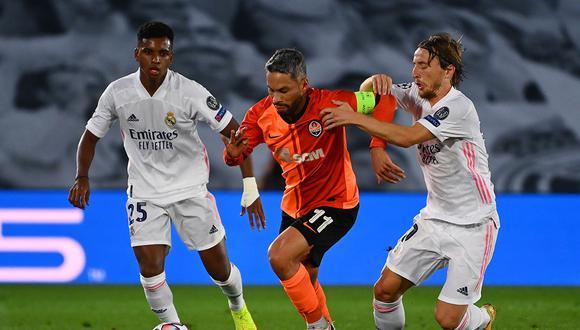 Shakhtar venció 3-2 de visitante al Real Madrid por la primera fecha del grupo B de la Champions League. (Foto: AFP)