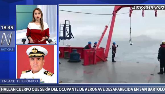 La Marina de Guerra realizó la búsqueda del cuerpo del ecuatoriano Juan Carlos Villalba en las últimas semanas. (Canal N)