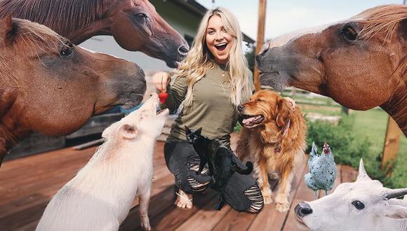 Stephanie Moratto comparte en sus redes sociales fotos y videos cortos relacionados a los numerosos animales que cuida en su granja, además de resúmenes de sus extenuantes jornadas cuidándolos. (Foto: stephaniemoratto en Instagram)