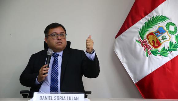 El procurador general, Daniel Soria, descartó cualquier tipo de injerencia a la autonomía de las procuradurías. (Foto: Andina)