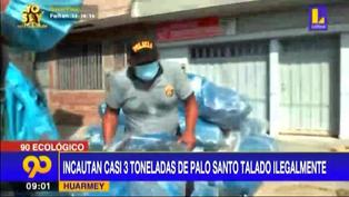 Huarmey: decomisan gran cantidad de palo santo talado ilegalmente