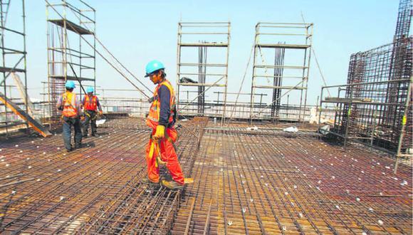 El sector Construcción aumentó en 987,36%, la cifra más alta del presente año, en comparación con similar mes del 2020. (Foto: GEC)