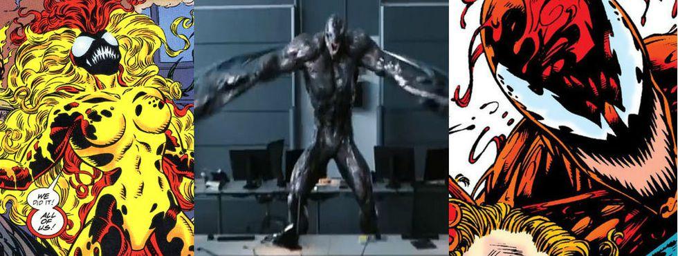 Scream, Ríot y Carnage, tres de los más grandes enemigos de Venom.