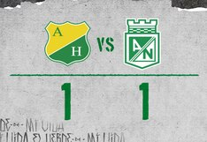 Atlético Nacional igualó 1-1 en su visita al Huila por la cuarta fecha de la Liga Águila de Colombia