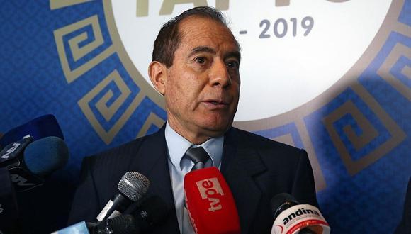 Walter Martos anunció reunión con la FPF y la Policía para revisar la continuidad de la Liga 1 | Foto: Andina