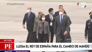 Rey Felipe VI llega a Lima para el cambio de mando