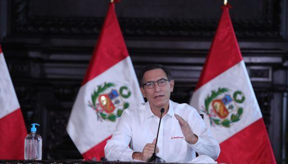 Presidente Martín Vizcarra, en el día 39 del estado de emergencia nacional. (Foto: Presidencia)