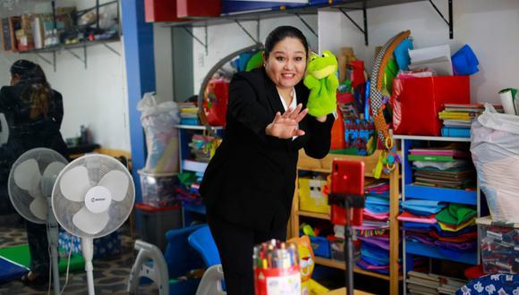 Evelyn Luyo, directora de Cre Ser, cuenta que perdió el local donde operaba su nido producto de la crisis económica. (Foto: Jessica Vicente)