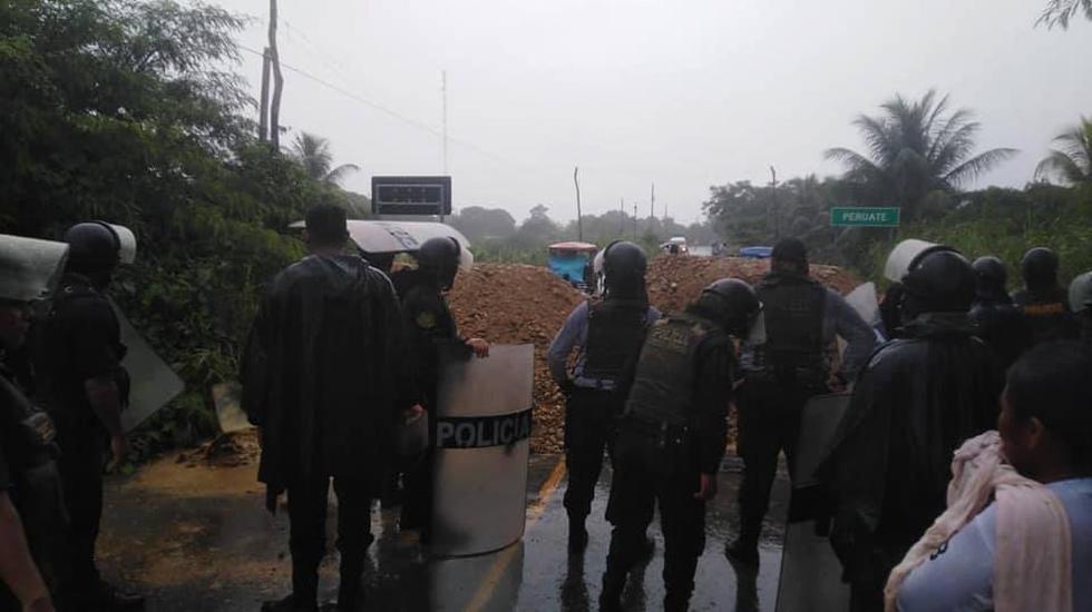 San Martín: enfrentamientos por bloqueo de vía deja 11 detenidos y dos policías heridos
