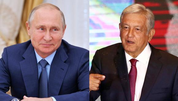 El presidente de Rusia, Valdimir Putin, dijo que espera un ambiente de cooperación con México, tras las elecciones que ganó en un holgado resultado AMLO. (Fotos: AFP/Alexei Druzhinin | Reuters/Edgard Garrido)