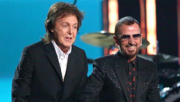Paul McCartney y Ringo Starr en su encuentro con motivo de los Grammy 2014. (Foto: AP)
