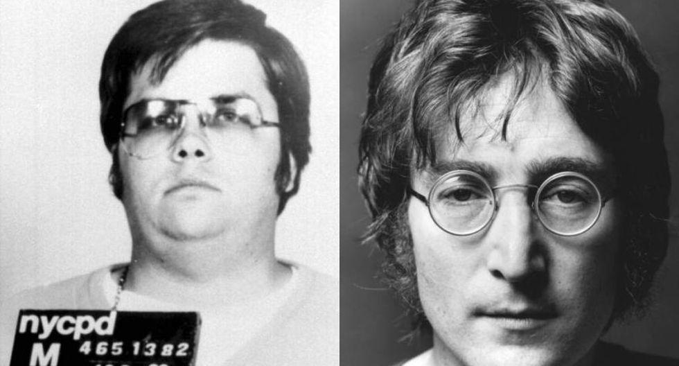 Mark Chapman, a la izquierda, asesinó a John Lennon en diciembre de 1980.