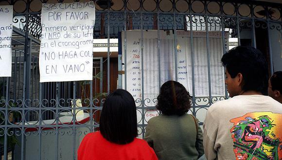 En cuanto al orden de la primera lista y las que vendrán a continuación, Pinto señaló que la selección parte desde las últimas personas que fueron estafadas por CLAE. (Foto: Archivo El Comercio)